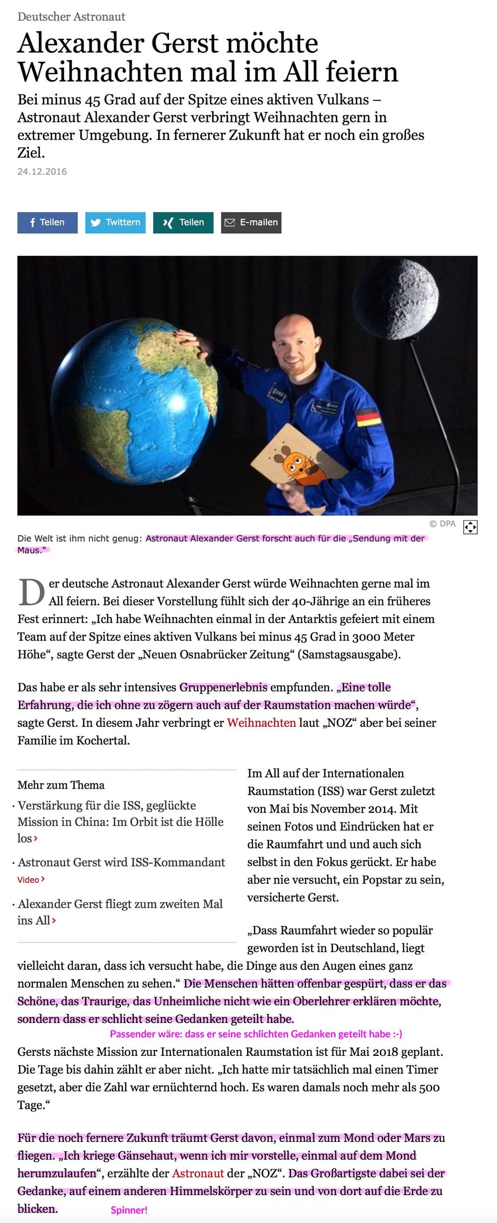 Die Erde, in der wir leben und der Raum, der die Welt ist - Seite 41 Gerstimaus