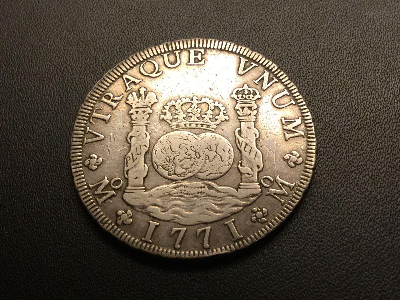 8 reales columnario 1771. Carlos III. México Image