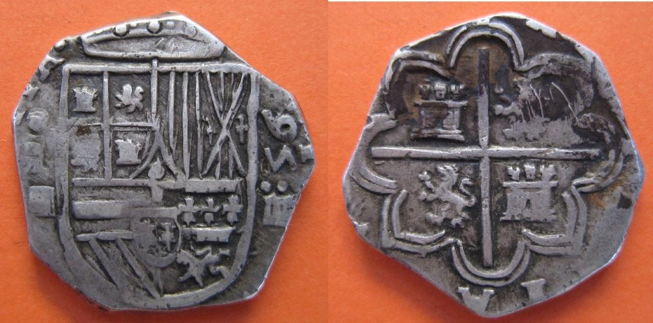 4 Reales de Felipe II 1595 Ceca Segovia 4_reales_Segovia_1595_Felipe_II