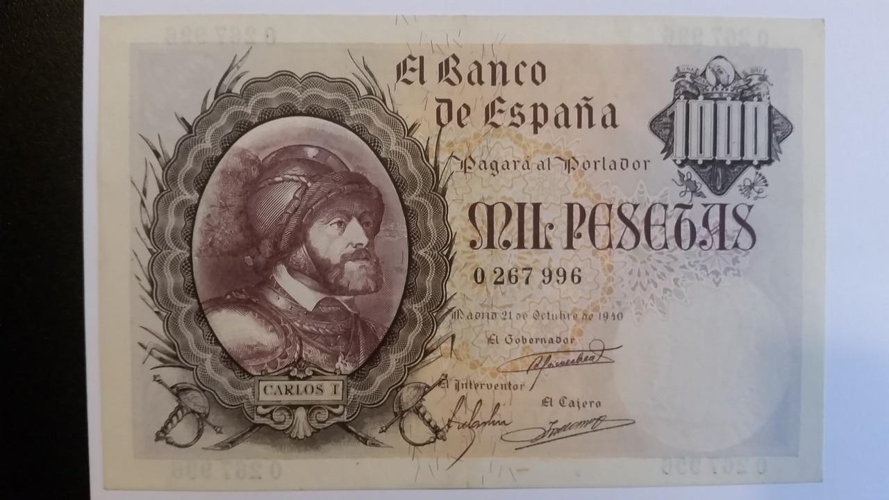 Colección de billetes españoles, sin serie o serie A de Sefcor pendientes de graduar 20161217_124049