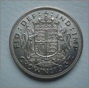 1 Crown 1937 ,GEORGIUS VI  Reino Unido Image