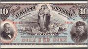 10 pesos Uruguay 1887 (Banco Italiano del Uruguay) Uru1