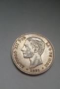 5 pesetas 1881 *18-81* Alfonso XII 20170118_100652_1