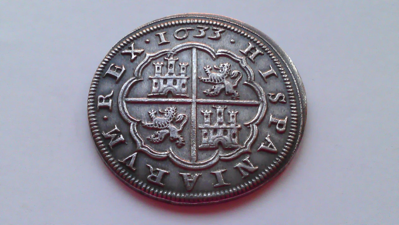 8 reales 1633. Felipe IV. Real Ingenio de Segovia. IMAG1231