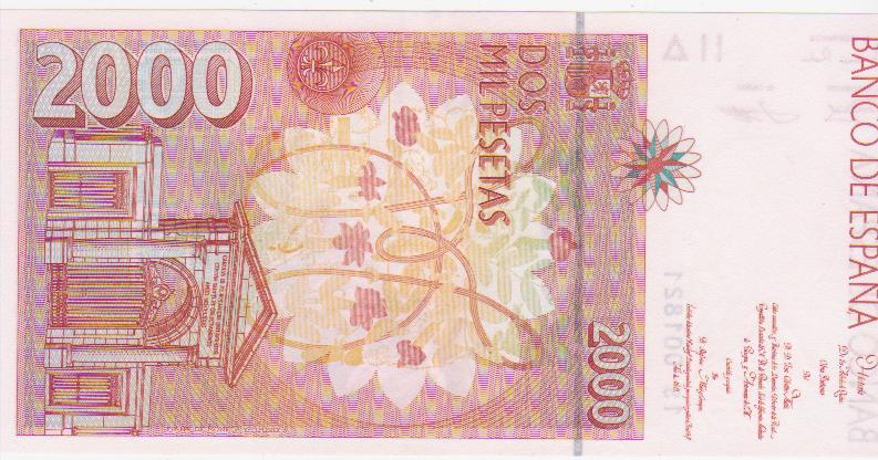 2000 Pesetas 1992 (Serie 1S - número bajo) 2000_pesetas_1992_serie_1_S_n_1821_001