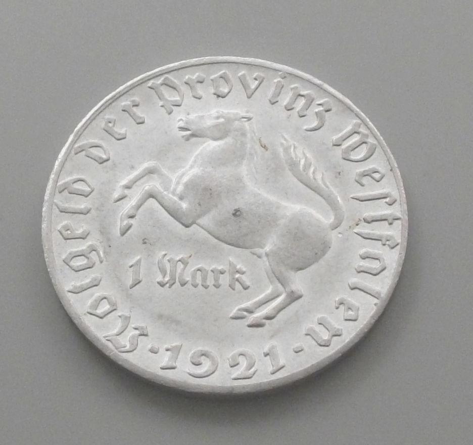 Monedas de emergencia emitidas por el banco regional de Westphalia 1921_1b