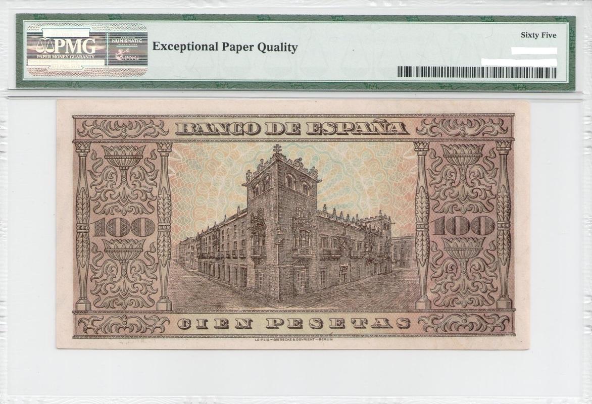 Colección de billetes españoles, sin serie o serie A de Sefcor - Página 4 100_ptas_1938_reverso
