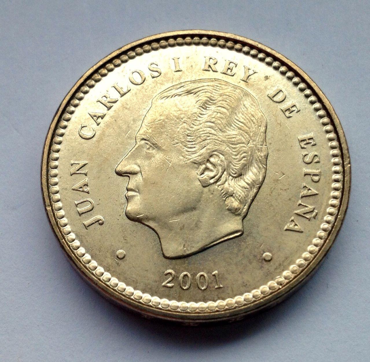 100 pesetas 2001 Juan Carlos I Image