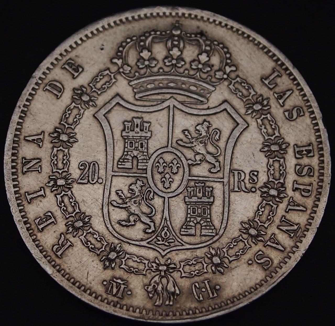 20 reales Isabel II 1850 2