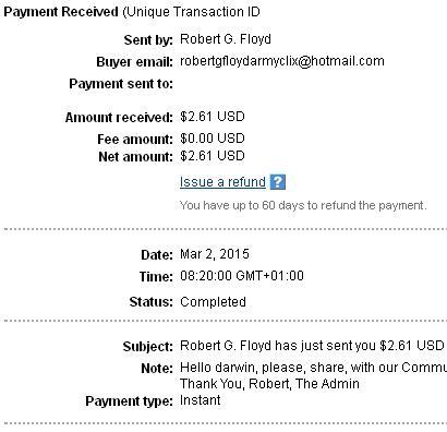 1º Pago de Armyclix ( $2,61 ) Armyclixpayment