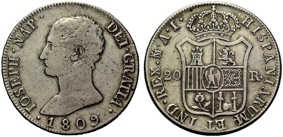 20 reales José I Bonaparte 1809 Madrid. 1136915l