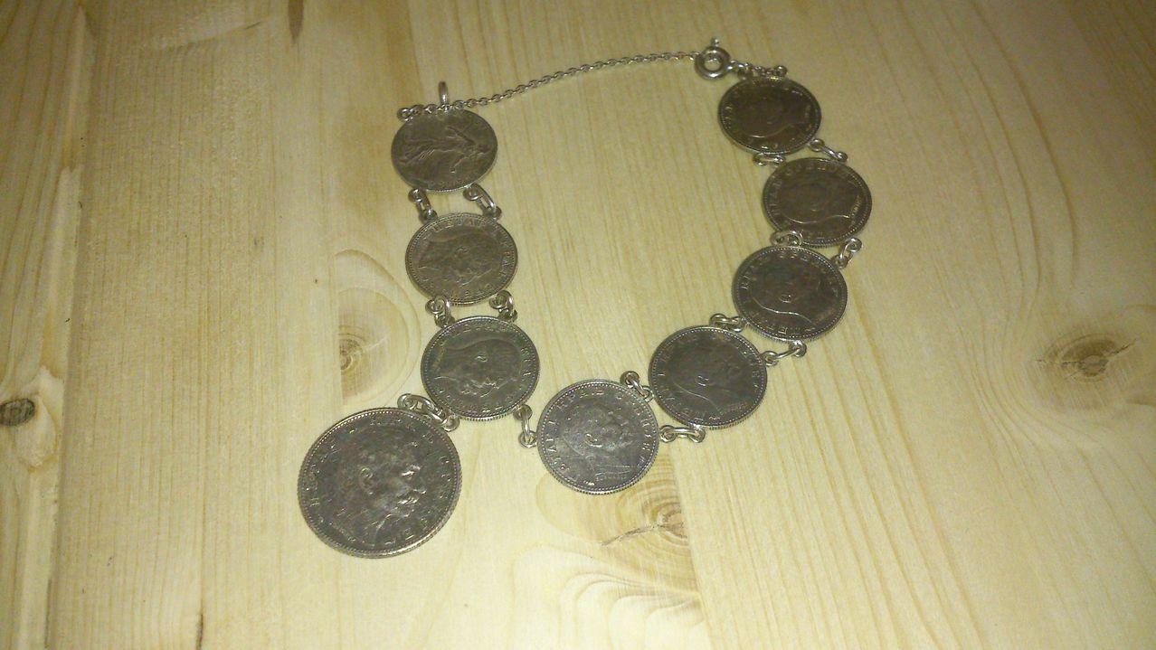 Pulsera monedas plata DSC_0007