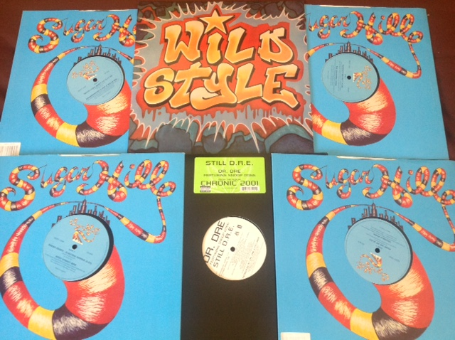 "VENDIDO - 6x 12"" + 2x LPs clasicos Hip Hop. Sugarhill Gang, Grandmaster Flash, Dr Dre, Wild Style ... IMG_1345"