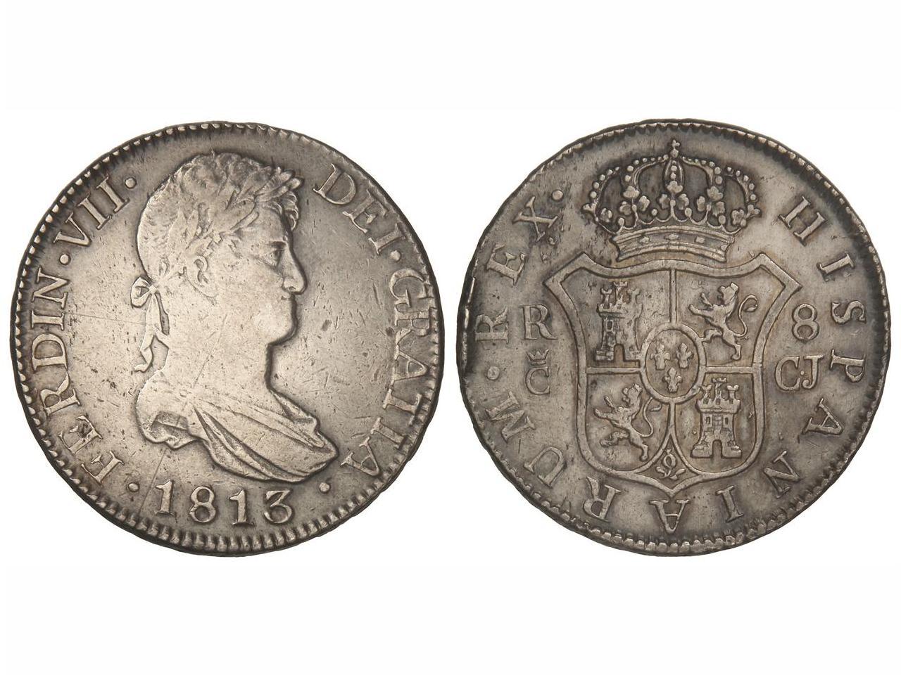 8 reales 1813. Fernando VII. Cádiz. El busto de Sagau. IMG_3817