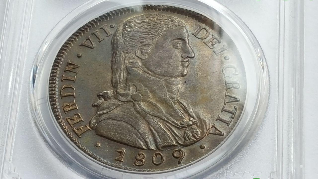 8 reales 1809  Fernando VII  Chile 20160202_143551