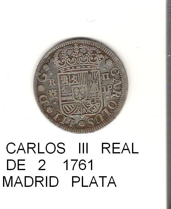 2 reales de Carlos III año 1761 Image