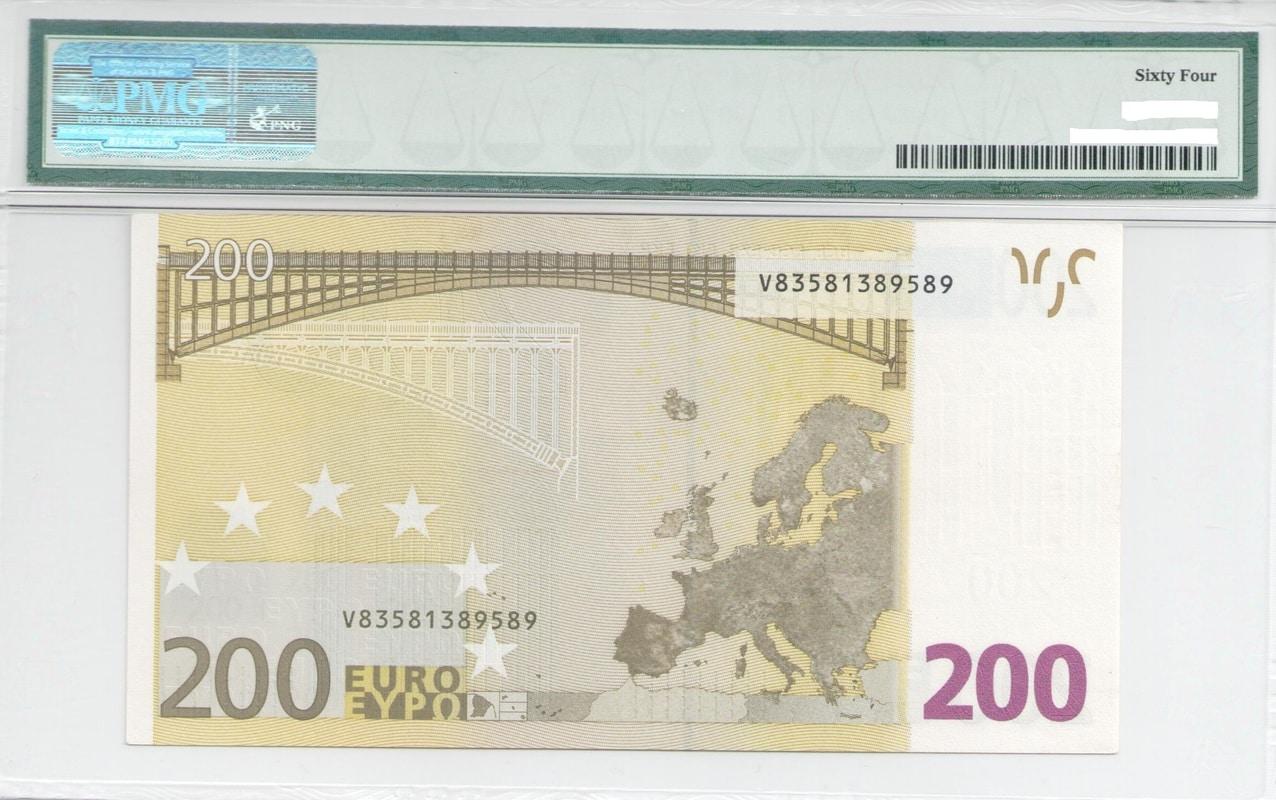Colección de billetes españoles, sin serie o serie A de Sefcor - Página 3 200_euros_reverso