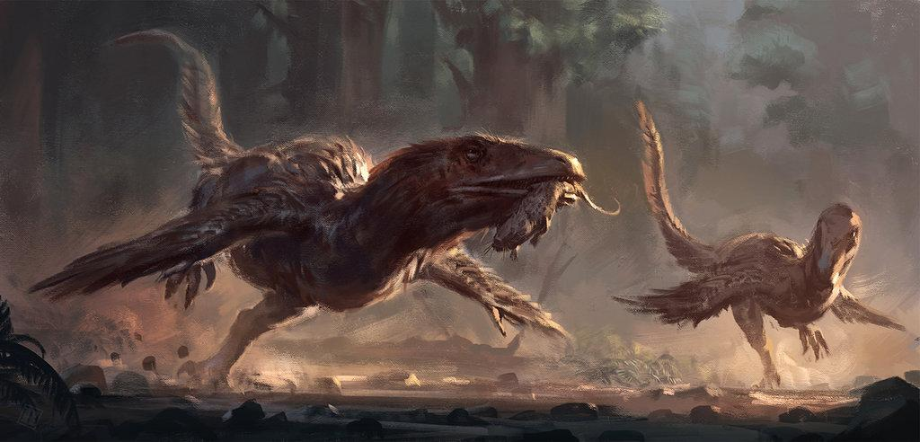 Awesome Paleoart  Deinonychus_by_raph04art-dbj33vc
