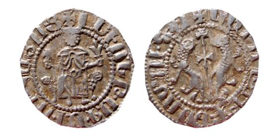 Tram de Levón I (1198-1219) del reino armenio de Cilicia (Lanzarote dedit) 0_0_0_tram_levon_ii