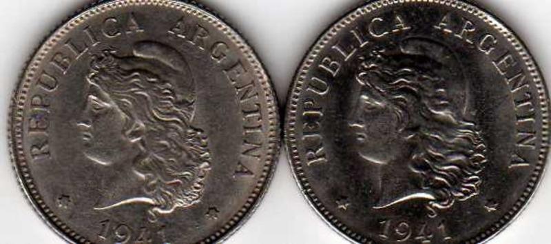 MONEDA DE 50 CENTAVOS (CABELLERA RIZADA) - ARGENTINA 1941 CABELLERA_RIZADA_Y_LISA