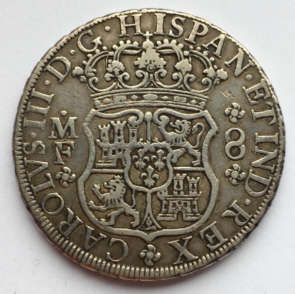 8 reales 1769. Carlos III. Méjico M.F. Columnario IMG_0677