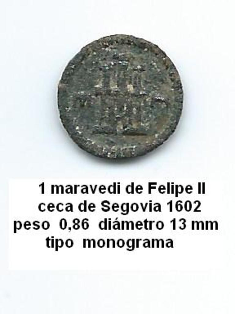 1 maravedí de Felipe III, Segovia. 1602. Image