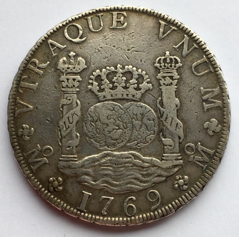 8 reales 1769. Carlos III. Méjico M.F. Columnario IMG_0675