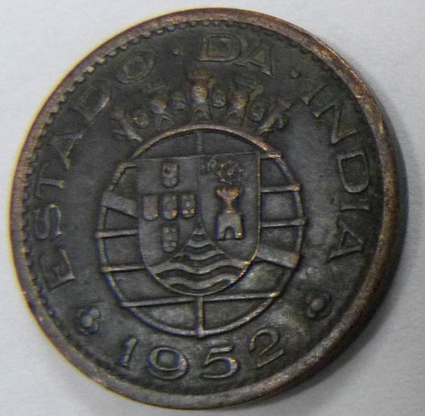 1 Tanga. India Portuguesa (1952) IPO_1_Tanga_rev