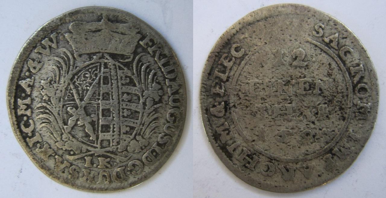 1/12 Thaler. Federico Augusto I. Sajonia, Casa de Wettin. 1695 1_12_Thaler_Sajonia_1695