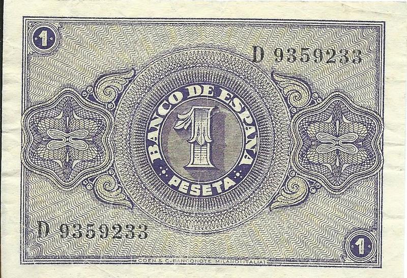 1 Peseta Febrero 1938 Image