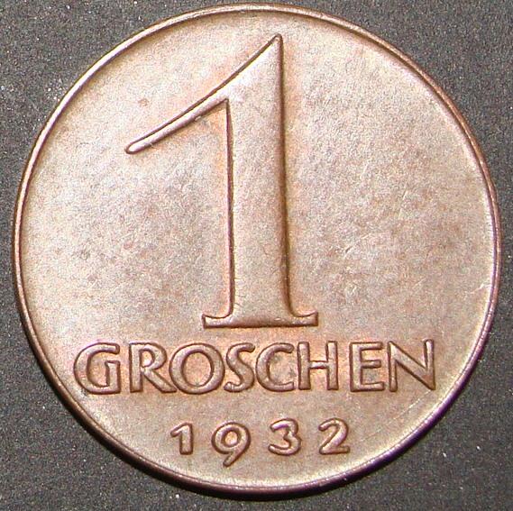 austria - 1 Groschen. Austria (1932) AUT_1_Groschen_1932_rev