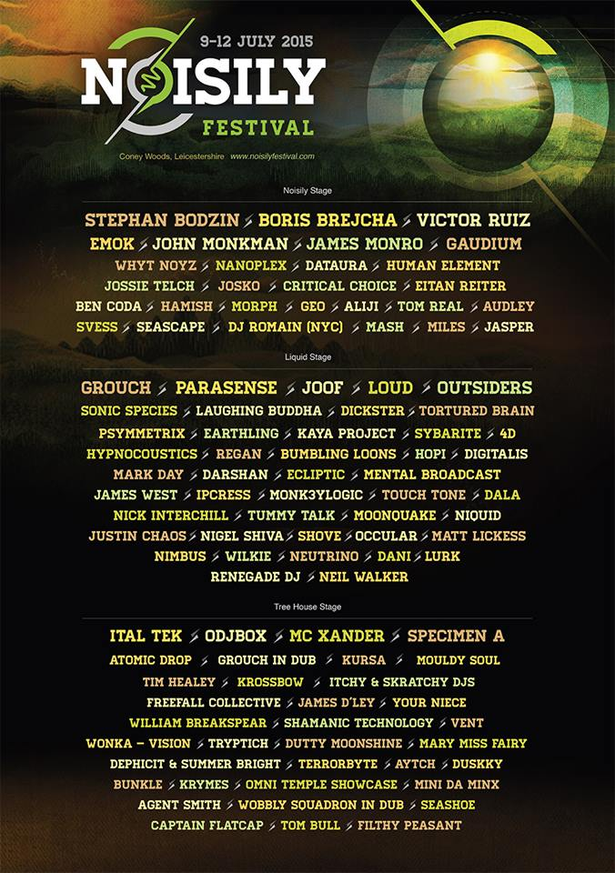 9-12th July 2015 // Noisily Festival // Leicestershire Noisily_poster_2015