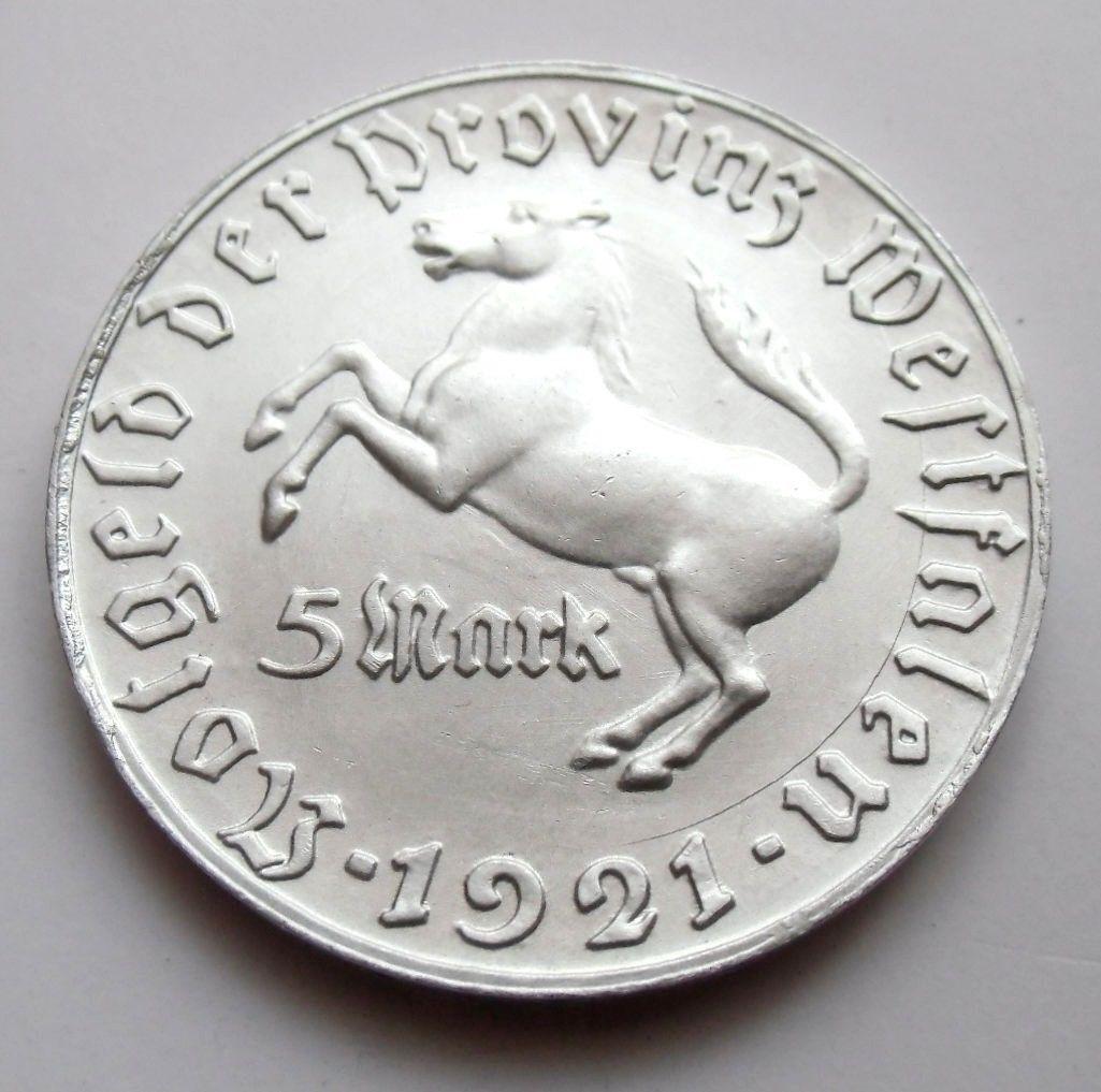 Monedas de emergencia emitidas por el banco regional de Westphalia 1921_5b