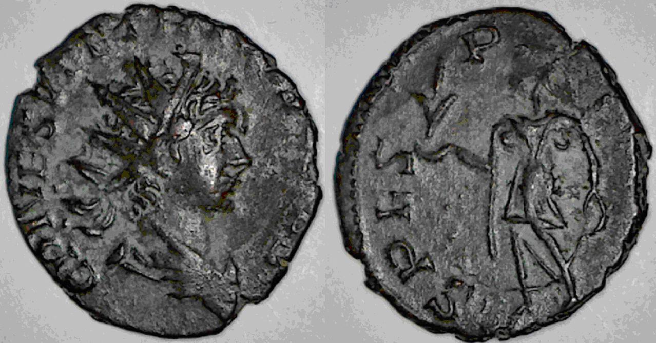 Antoniniano de Tétrico II. SPES PVBLICA. Ceca Trier. Tetrico_II
