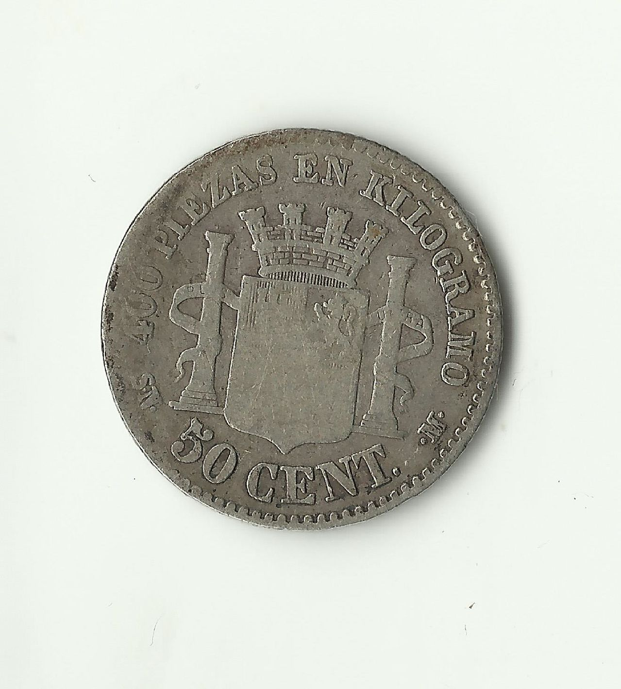 50 céntimos 1869 *6*9. Gobierno Provisional. 50_cents_1869_anv