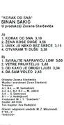 Sinan Sakic  - Diskografija  Sinan_Sakic_1993_1_kz