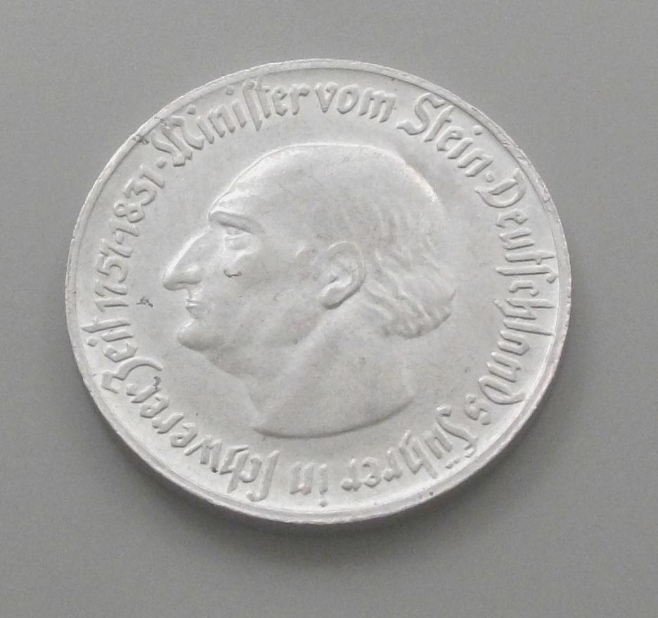 Monedas de emergencia emitidas por el banco regional de Westphalia 1921_1a