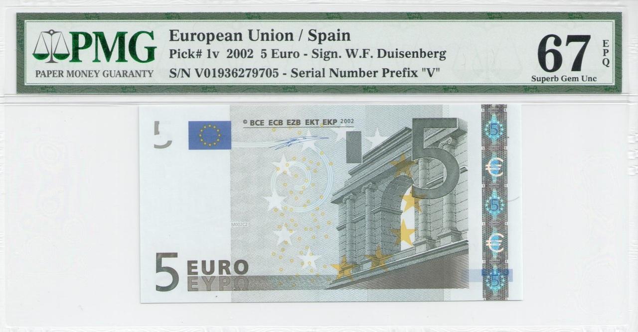 Colección de billetes españoles, sin serie o serie A de Sefcor - Página 3 5_euros_duis_anverso