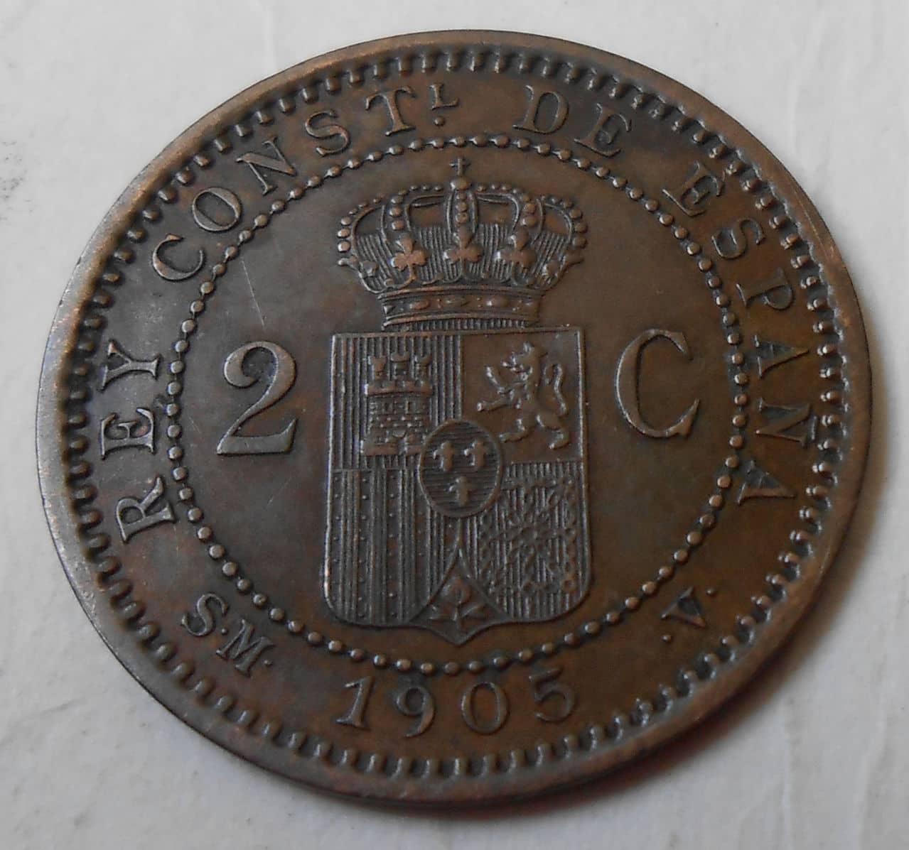 2 centimos  1905 *05  Alfonso XIII 05_rev