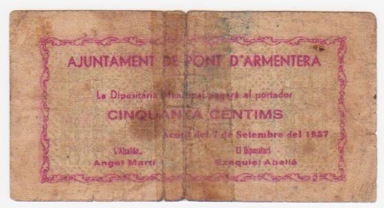 50 Céntimos Pont D´Armentera, 1937 Pont_de_armentera_001