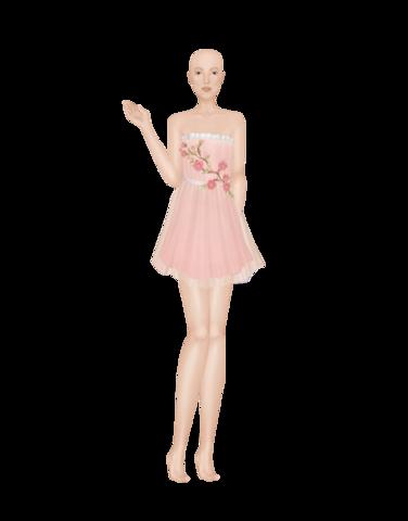 Simple pink dress 2_M