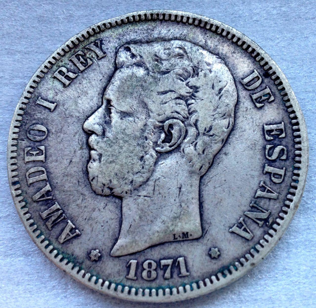 5 pesetas 1871 *73 - Amadeo I - La moneda de la discordia IMG_5888