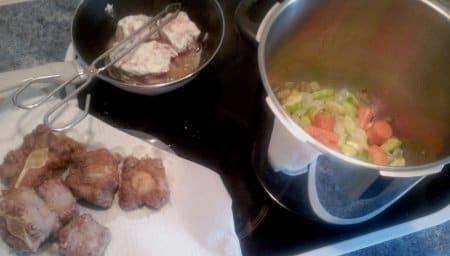 Rabo de toro (o de ternera) en salsa Ra3