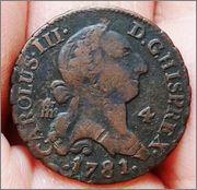4 maravedis 1781. Carolus III ceca Segovia Carolus_III_4_maravedis_1781_ceca_Segovia_1