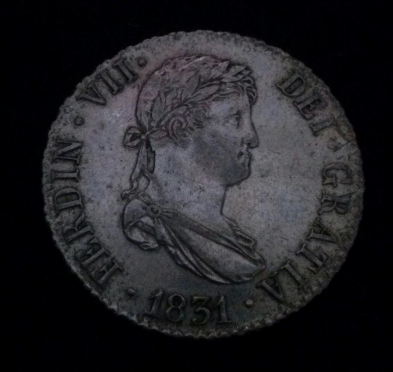 2 reales 1831 Madrid AJ, Fernando VII DEDICADA A Flekyangel CAM00832_1