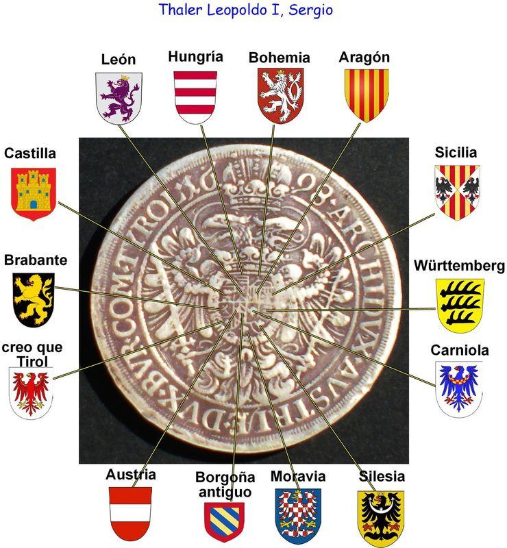 1 Thaler Austria 1698  Thaler_leopoldo