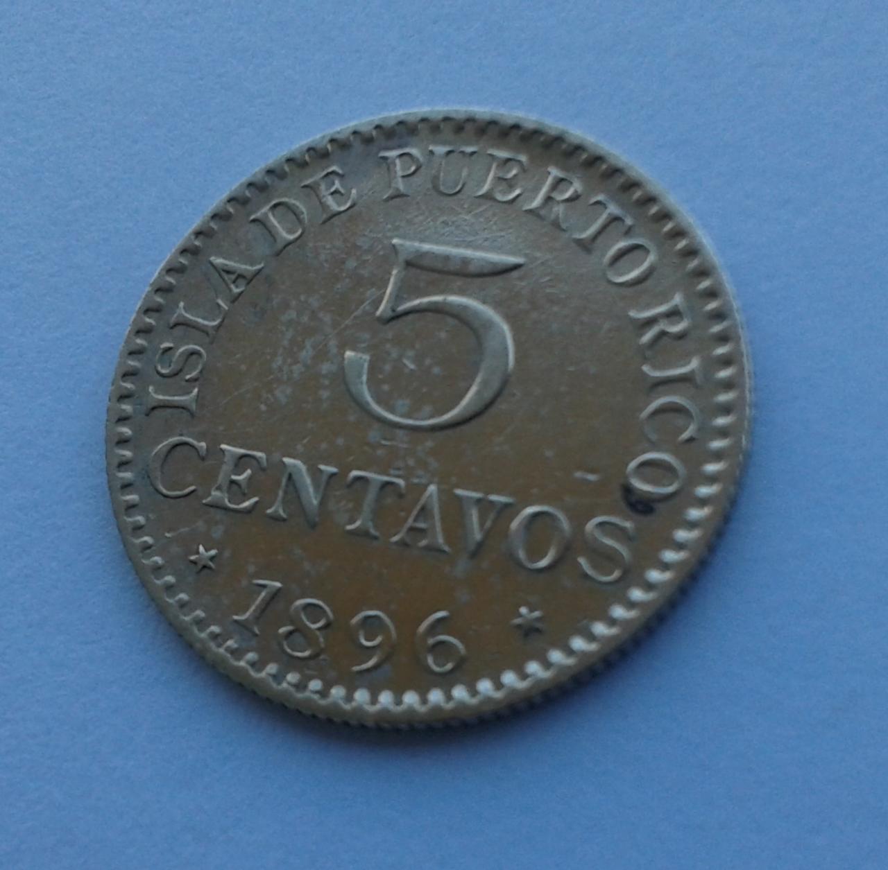 5 Centavos 1896 Puerto Rico - Alfonso XIII 20141027_152845