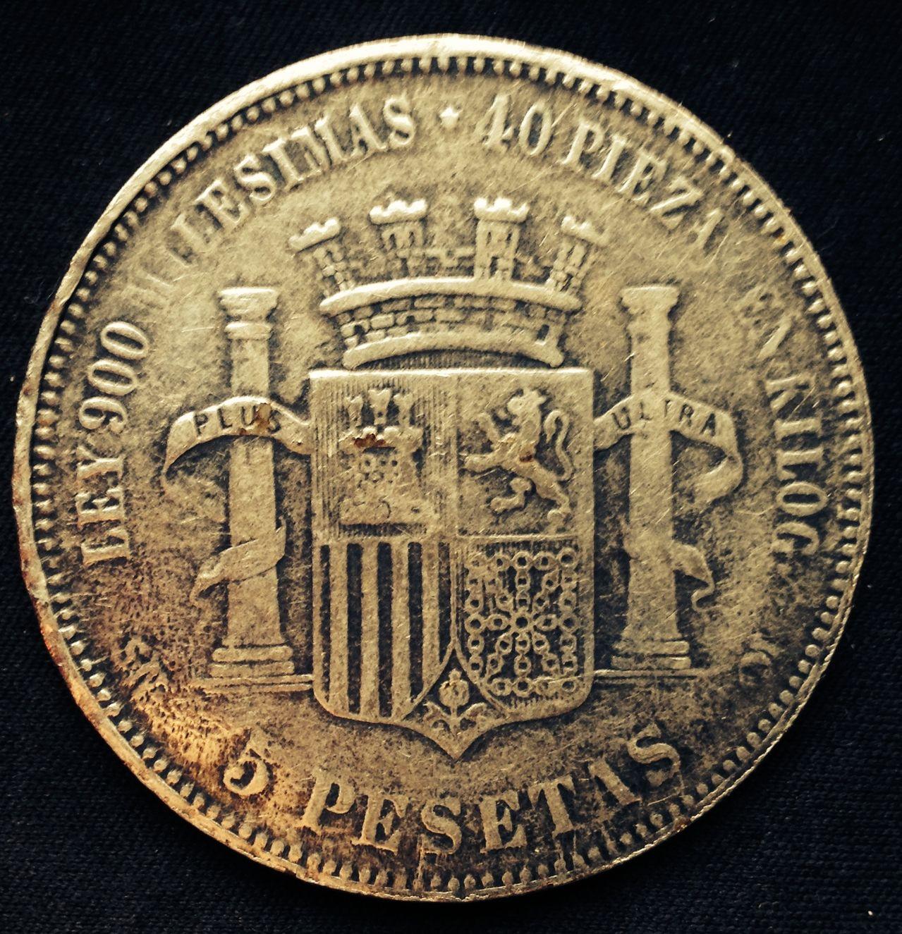 5 Pesetas 1870 Gobierno Provisional - ( Buena ??? ) Image