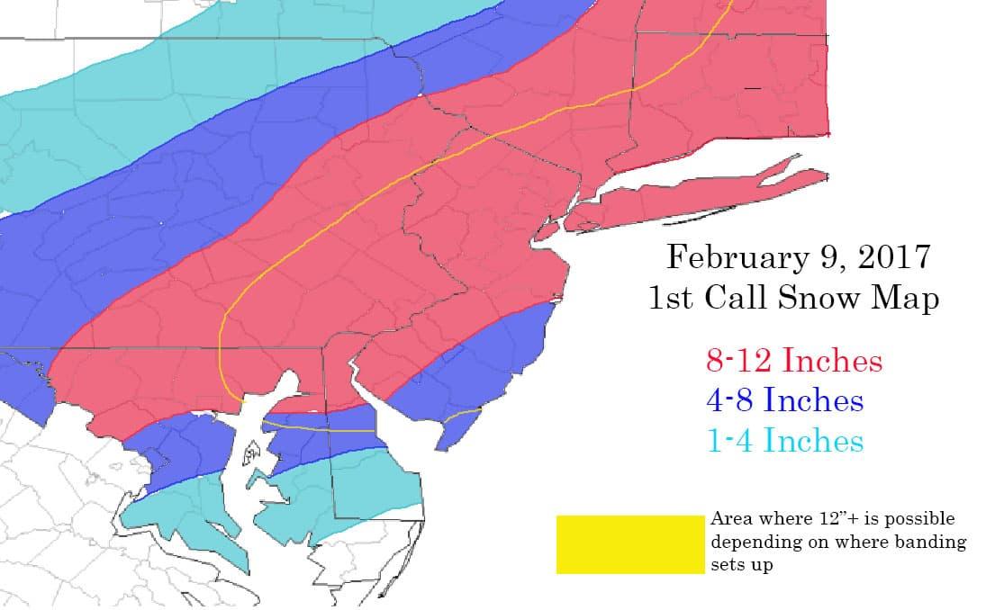 February 9th Godzilla: Fast & Furious Storm 1st_call_snow_map