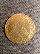 8 Escudos Carlos IV 1791 Nuevo Reino JJ Nox36g